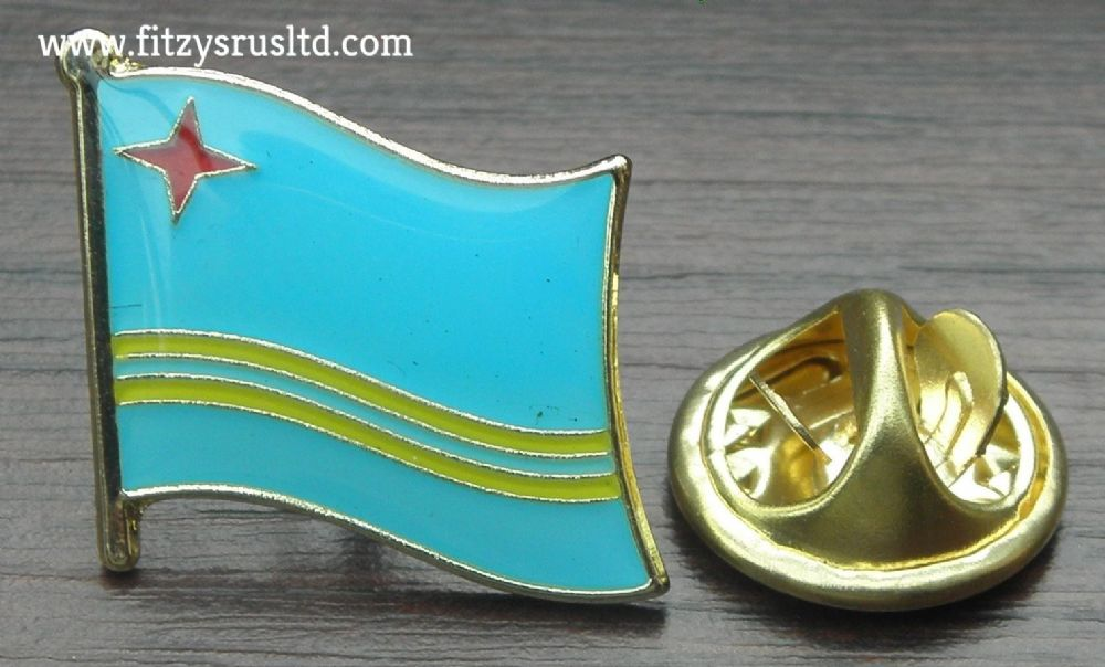 Aruba Country Flag Lapel Hat Cap Tie Pin Badge / Brooch - Oranjestad Brand New